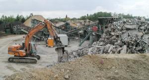Recyclage de déchets de chantier
